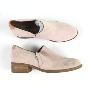 Toms Pink Suede Shaye Bootie T916208